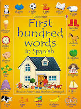 First 100 Words in Spanish (Usborne First Hundred Words Sticker Books) by Amery