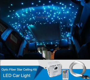 32W Car LED Light Twinkle Fiber Optic Star Ceiling Kit RGB Remote 900 Strands 3M