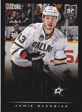 13-14 Score Jamie Oleksiak Rookie BLACK Parallel SP Stars 2013
