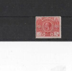 BERMUDA , 1921, SG76 TYPE 19 1d CARMINE, MH     CV £14.00+