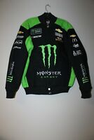 New Monster Energy NASCAR twill cotton embroidery jacket black men's XXL SALE