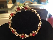 BEAUTIFUL BRIDAL Ruby Jewelry  set with Earring, necklace and ring