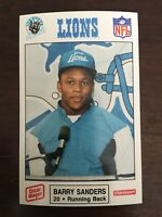 1989 Oscar Meyer Barry Sanders Rookie RC Lions Team Set