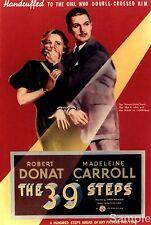 Alfred Hitchcock I 39 passi 1935 FILM VINTAGE CINEMA FILM POSTER stampa A4