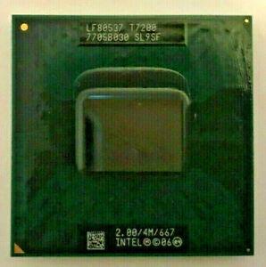 INTEL Core 2 Duo T7200 MOBILE SL9SF - 2,00GHz / 4M / 667 - Sockel M #279