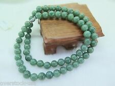 New 1pcs 100% Natural Grade A Oil-Green Jade (Jadeite) 10mm Beads Necklace