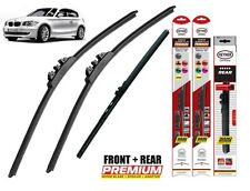 "BMW 1 E81 E87 full set quality windscreen wiper blades 20""20""12"" front + rear"
