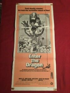 "Bruce Lee ""Enter the Dragon"" 1973 Original Australian Daybill!"