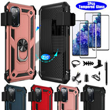 For Samsung Galaxy S20 Fe Phone Case Shockproof Belt Clip Kickstand Hybrid Cover