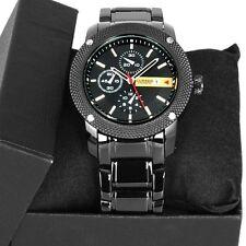 Luxury New Curren Army Black Stainless Steel Date Sports Quartz Mens Watch New