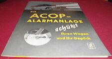 Prospekt hoja ACOP KFZ alarma elcon Gerlach munich publicitarias publicidad 1959