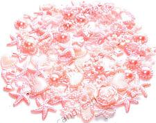 Rosa bebé Hágalo usted mismo 20g 100 un. perlas mixtas formas Adornos Flatback Decoden Kit