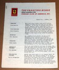 Prancing Horse Magazine #17  Ferrari Club of America Q2 1968