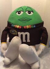 "Collectible NASCAR M&M's World Plush Stuffed Green 30"""