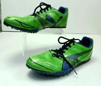 PUMA Complete TFX Sprin Mens Sz 11.5 Track Shoes Green Blue Black MSRP $59.99