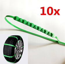 Reusable Nylon Zip Tie Car Truck Tire Chain Winter Tyre Accessroies Green 10pcs