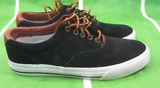 NEW Polo Ralph Lauren Shoes VAUGHN PERF SD BLACK WHITE  Sneakers Size 12 ***