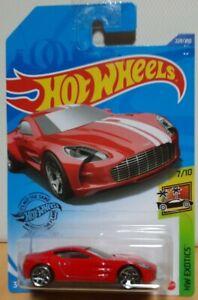 Hot Wheels 2020 HW Exotics 7/10 #229 Aston Martin One-77 Red mint on long card