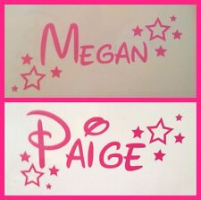 Personalised Disney Name and Stars wine glass Décalque