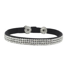 Lux Accessories Black Triple Row Crystal Studded Bling Suede Wrap Bracelet