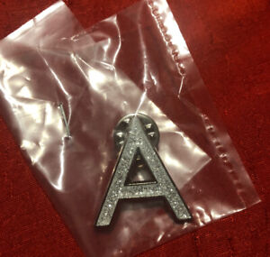 Sparkly A Badge - New