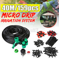 40M MICRO IRRIGATION KIT DRIP WATERING SYSTEM GREENHOUSE PLANTS GARDEN TOOL
