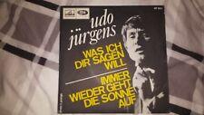 """Udo Jürgens  Vinyl 7"""" EMI Voix de Son Maître was ich dir sagen will VF 501 MINT"""