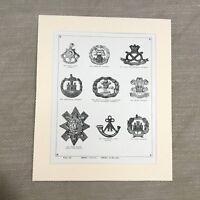 1900 Militare Stampa Uniforme British Distintivo Gallese Reggimento Fanteria