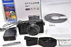 【Excellent】Olympus STYLUS SH-1 Black Compact Digital Camera from japan Courier