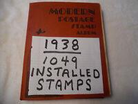 Modern Postage Stamp Album 1049 Installed Stamps Scott 1938 US & Worldwide 1001B