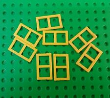 *NEW* Lego Yellow  2x3x1 Flat Window Shutters Houses Huts Buildings 8 pieces