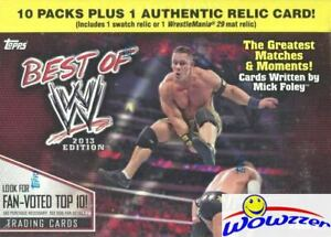2013 Topps BEST of WWE EXCLUSIVE Factory Sealed Blaster Box-WWE RELIC!