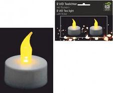 2 LED Teelichter flackernd Batterie elektrisches Teelicht elektrische Kerze
