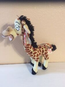"madagascar Melvin Giraffe Ty Plush 10"" With Tags"