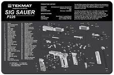 GUN CLEANING GUNSMITH'S BENCH MAT by TEKMAT USA for SIG SAUER P226 9mm PISTOL
