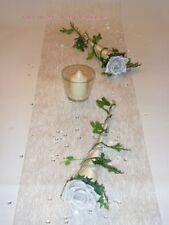 bordeaux zur Hochzeit Tischdeko TD0007 Tischdekoration für ca 60 Pers