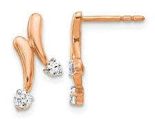 1/5 Carat (ctw) Diamond Earrings in 14K Rose Pink Gold