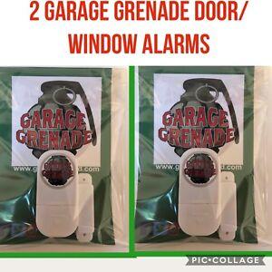 2 X Garage Grenade DOOR WINDOW SECURITY ALARM Shed/ Garage Alarm Device Door
