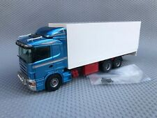 Tekno Scania 144L 460 6x2 Box Truck Blue Cab 1:50 Scale Diecast Model