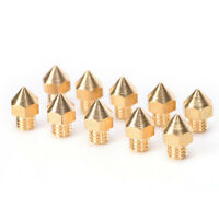 10x Brass 0.4mm Extruder Nozzle Print Head for MK8 Makerbot Prusa 3D Printer FT