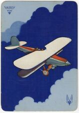 Playing Cards 1 Swap Card Vintage Wide RAF FAIREY FOX Light Bomber FIGHTER PLANE