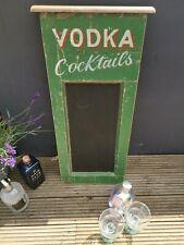 Vodka Cocktails Blackboard  Chalkboard Bar Kitchen Garden Mancave Kitchen