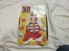 McDonalds hamburglar  Bib & Bonnet Costume Set 1998 Rubies (0-9 Months) - NEW!