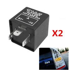 2pc CF13 JL-02 3-Pin LED Flasher Relay For Car Turn Signal Light Hyper Flash Fix