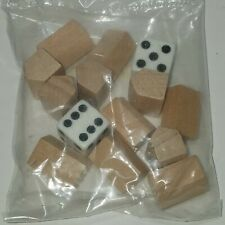 1998 Replacement Monopoly Golf Edition Wooden Brown Club Houses / Motels & Dice