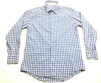 Southern Tide Mens Blue Plaid Long Sleeve Button Front Shirt Size Medium