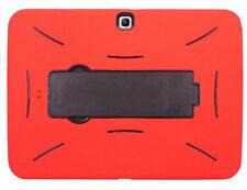 Samsung Galaxy Tab 3 10.1 P5200 P5210 Rugged Armor Case Cover Kickstand Red/BK
