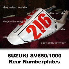 rear track numberplates for suzuki sv650gsxr style body