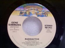 """GENE SIMMONS """"RADIOACTIVE / SEE YOU IN YOUR DREAMS"""" 45 KISS  MINT"""