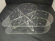 Clear Perspex Heart Shape Cake Pop Support Plat Pack Design Support Pour 15 Cake Pop